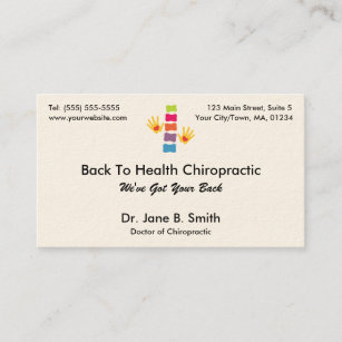 Cartes De Visite Logo Chiropractie