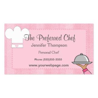 Cartes de visite de Madame Chef Carte De Visite Standard