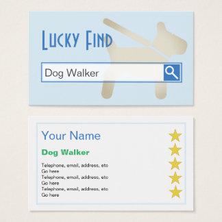 """Cartes de visite de marcheur de chien """"de"""
