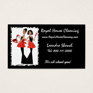 Cartes de visite de nettoyage de Chambre