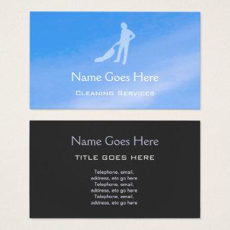 """Cartes de visite de nettoyage """"de ciel bleu"""""""