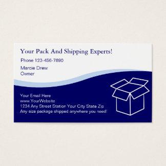 Cartes de visite de paquet et de bateau