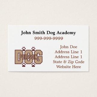 Cartes de visite de personne de chien