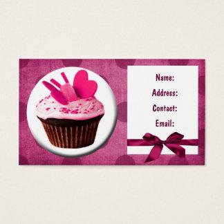 cartes de visite de petit gâteau d'amusement
