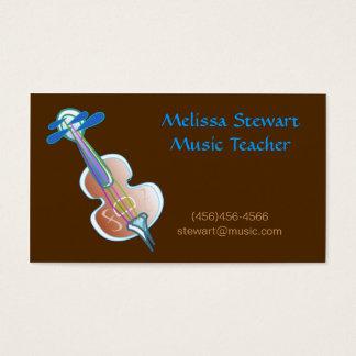 Cartes de visite de professeur de musique de Brown