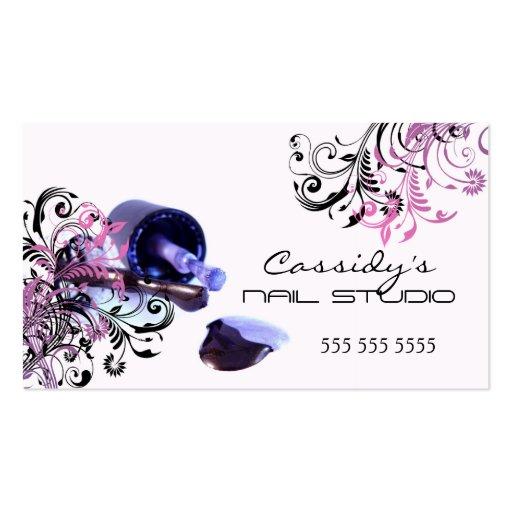 Cartes de visite de salon de beauté de technicien  modèles de cartes de visite