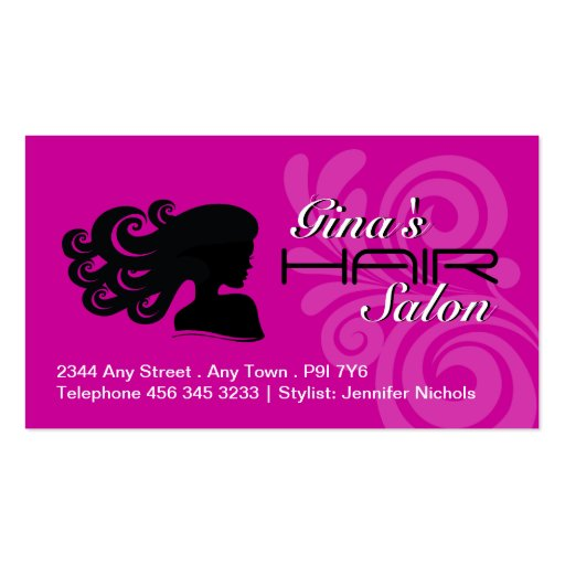 Cartes de visite de salon de coiffure cartes de visite professionnelles