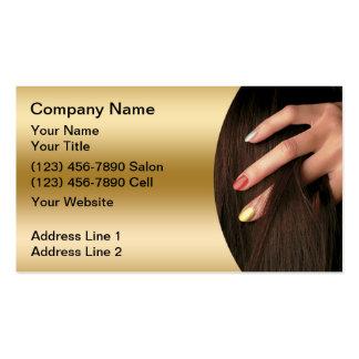 Cartes de visite de salon d'ongle de cheveux carte de visite standard