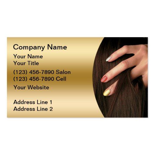 Cartes de visite de salon d'ongle de cheveux carte de visite