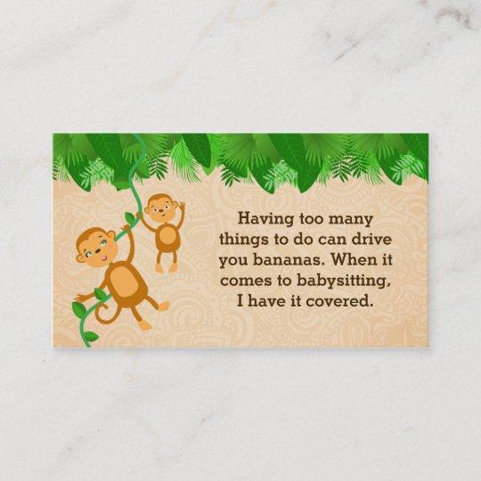 Cartes De Visite Slogans Babysitter