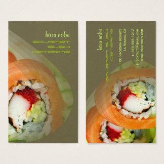 Cartes de visite de sushi
