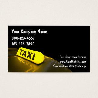 Cartes de visite de taxi carte de visite standard