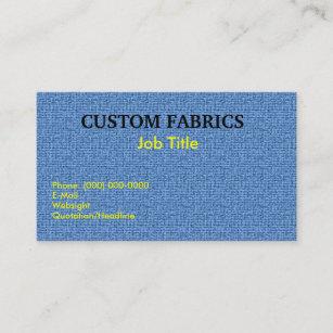 Cartes De Visite Texture Tissu