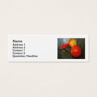 Cartes de visite de tomates et de poivrons de