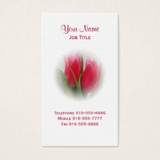 Cartes de visite de tulipes de roses indien