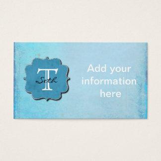 Cartes De Visite Décoré d'un monogramme