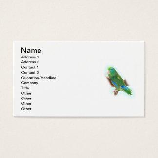 Cartes De Visite Délivrance de perroquet
