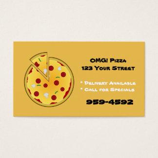 Cartes de visite d'endroit de pizza -