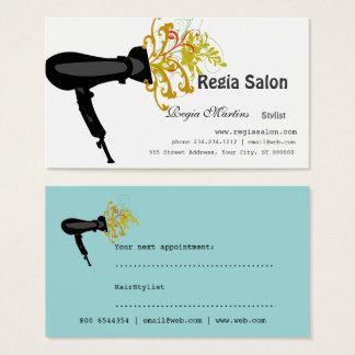 Cartes De Visite Dénommer des esthéticiens de sèche-cheveux de