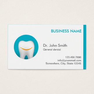Cartes De Visite Dent moderne de sourire de turquoise dentaire
