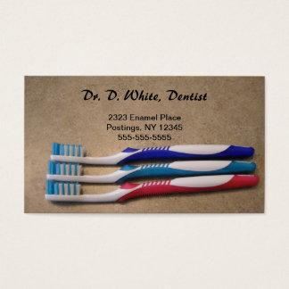 Cartes De Visite Dentiste - brosses à dents