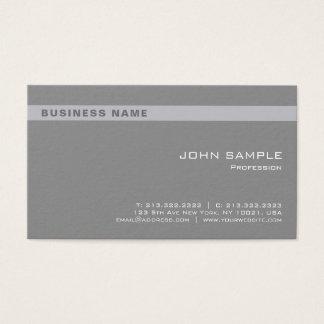 Cartes De Visite D'entreprise chic gris professionnel élégant