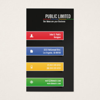 Cartes De Visite D'entreprise coloré moderne
