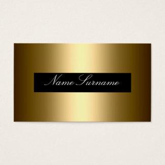 Cartes De Visite D'entreprise élégant d'abrégé sur noir or