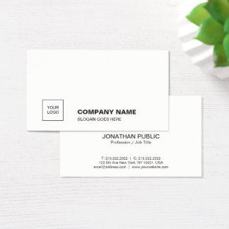 Cartes De Visite D'entreprise simple simple blanc élégant