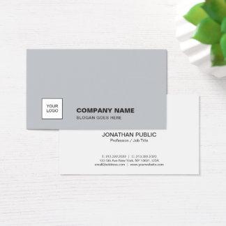 Cartes De Visite D'entreprise simple simple gris élégant