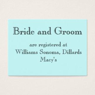 Cartes De Visite Des jeunes mariés, sont enregistrés à…