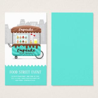 Cartes De Visite Desserts de bonbon à petit gâteau de rue de