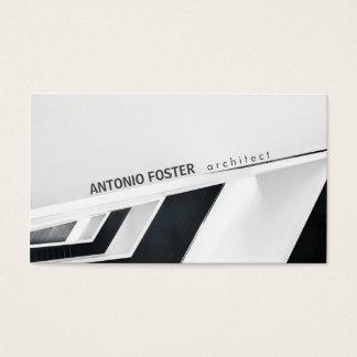 Cartes De Visite Dessinateur d'intérieurs d'architecte noir et