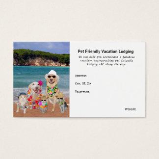 Cartes De Visite Destinations amicales de vacances d'animal
