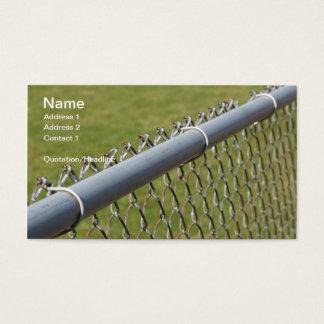 Cartes De Visite détail de plan rapproché d'une barrière de maillon
