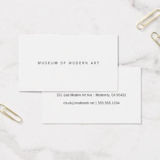 Cartes De Visite Deux avant de musée et arrières centraux minimaux