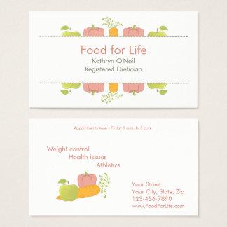 Cartes De Visite Diététicien ou nutritionniste professionnel