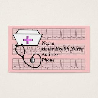Cartes de visite d'infirmier autorisé