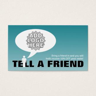 Cartes De Visite dites une référence d'ami comique