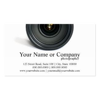 Cartes de visite d'objectif de caméra de photograp carte de visite standard