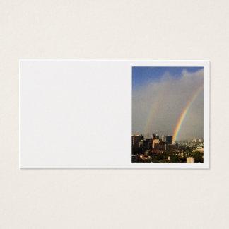 Cartes De Visite Double arc-en-ciel de Honolulu
