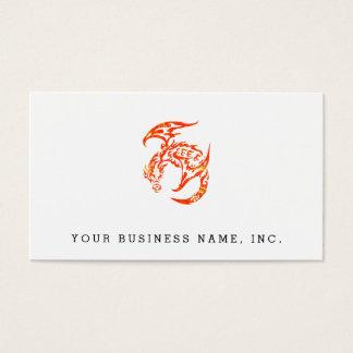 Cartes De Visite Dragon tribal de style d'impression typographique