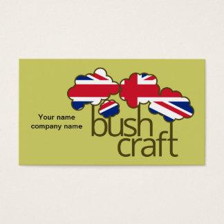 Cartes De Visite Drapeau de Bushcraft Royaume-Uni