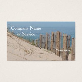 Cartes De Visite Dunes de sable et barrière de plage