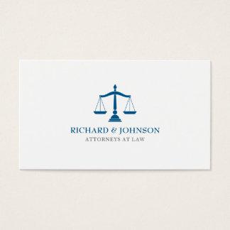 Cartes De Visite Échelles bleues de cabinet juridique