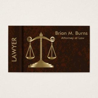 Cartes De Visite Échelles de la loi | de justice | personnalisable