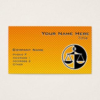 Cartes De Visite Échelles jaune-orange de justice