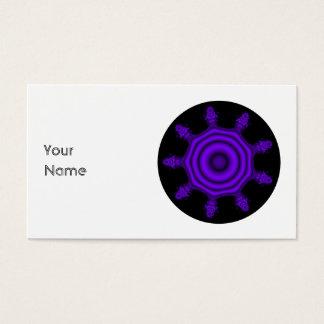 Cartes De Visite Éclat de pourpre. Fractale Art. Purple et noir