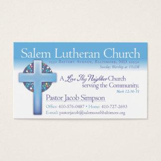 Cartes De Visite Église luthérienne de Jake Salem de pasteur