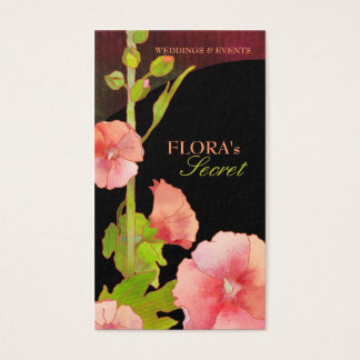 Cartes de visite élégants de fleuriste de roses